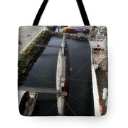Russian Submarine Top View Tote Bag