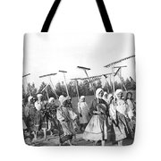 Russian Women Go To The Fields Tote Bag