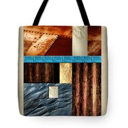 Rust And Rocks Rectangles Tote Bag