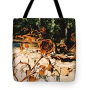 Rust And Roses Tote Bag