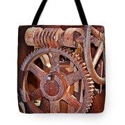 Rust Gears And Wheels Tote Bag