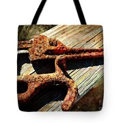 Rust Tools II With Texture Tote Bag