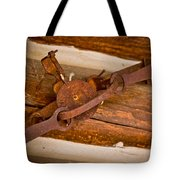 Rust Trapped On A Log - Old Trap - Casper Wyoming Tote Bag