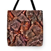 Rusted Bolt In The Rocks Tote Bag