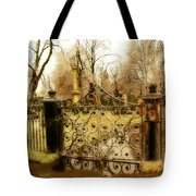 Rusted Cemetery Gate Tote Bag