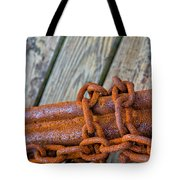 Rusted Chained Tote Bag