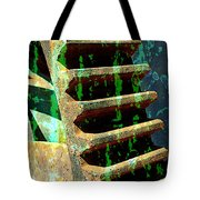 Rusted Gears Abstract Tote Bag