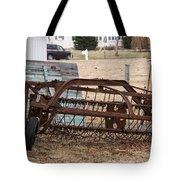 Rusted Hay Rake Tote Bag