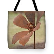 Rusted Iron Flower Tote Bag