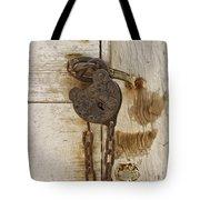 Rusted Lock Tote Bag