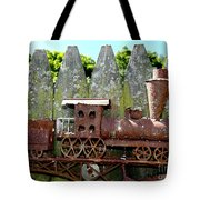 Rusted Rails Tote Bag