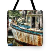 Rusted Wood Tote Bag by Michael Thomas