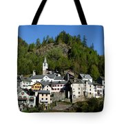 Rustic Alpine Village Tote Bag