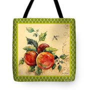 Rustic Apples On Moroccan Tote Bag