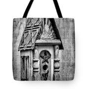 Rustic Birdhouse - Bw Tote Bag