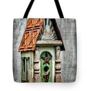 Rustic Birdhouse Tote Bag