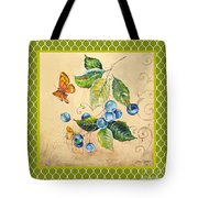 Rustic Blueberries On Moroccan Tote Bag