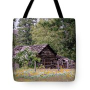 Rustic Cabin In The Mountains Tote Bag
