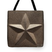 Rustic Five Point Star Tote Bag
