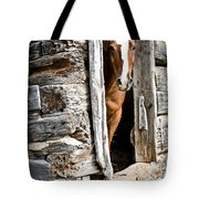 Rustic Horse Scene Tote Bag