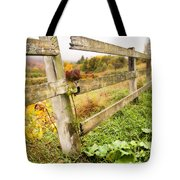 Rustic Landscapes - Broken Fence Tote Bag