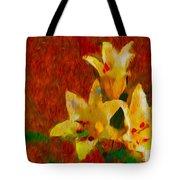 Rustic Lilies Tote Bag