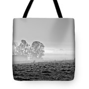 Rustic Morning In Black And White Tote Bag