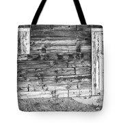 Rustic Old Colorado Barn Door And Window Bw Tote Bag