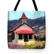 Rustic Old Schoolhouse Near San Simeon California Tote Bag