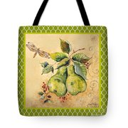 Rustic Pears On Moroccan Tote Bag