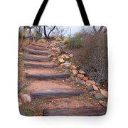 Rustic Stairway Tote Bag