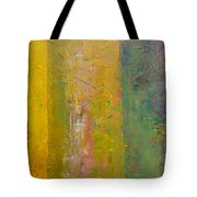 Rustic Stripes With Yellow Tote Bag by Michelle Calkins