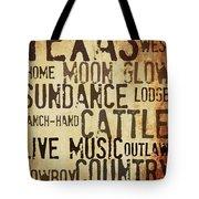 Rustic Texas Art Tote Bag