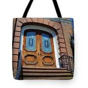 Rustic Wood Charleston Door Tote Bag
