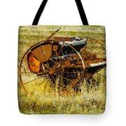 Rusting Farm Equipment Tote Bag