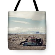 Rusty Car In Plain Tote Bag