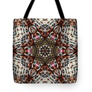 Rusty Chain Link Kaleido Tote Bag