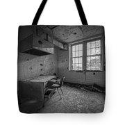 Rusty Desk Bw Tote Bag