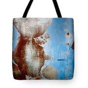 Rusty Door Abstract Tote Bag