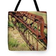 Rusty Hay Rake Tote Bag