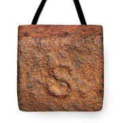 Rusty Letters Usa Tote Bag