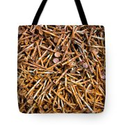 Rusty Nails Abstract Art Tote Bag