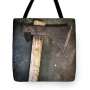 Rusty Old Axe Tote Bag by Carlos Caetano