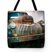 Rusty Old Chevy Pickup Tote Bag