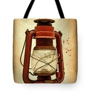 Rusty Old Lantern On Aged Textured Background E59 Tote Bag