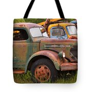 Rusty Old Trucks Tote Bag