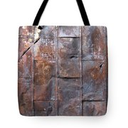 Rusty Plate Door 2 Tote Bag