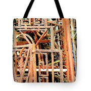 Rusty Railings Square Tote Bag