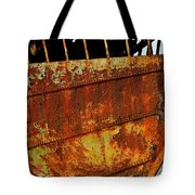 Rusty Remains Of An Old Boat Tote Bag