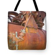 Rusty Steam Tractor Tote Bag